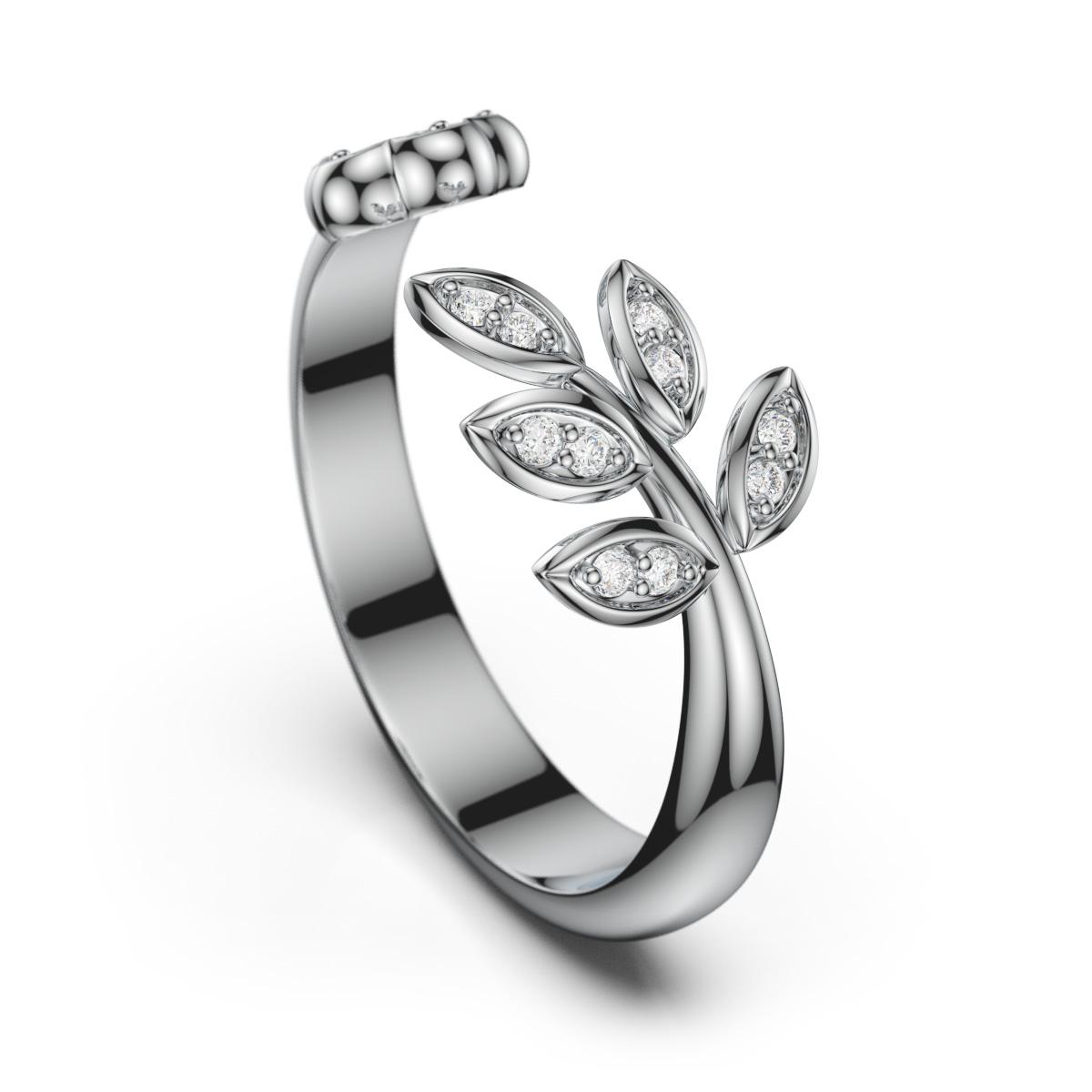 枝与花戒指