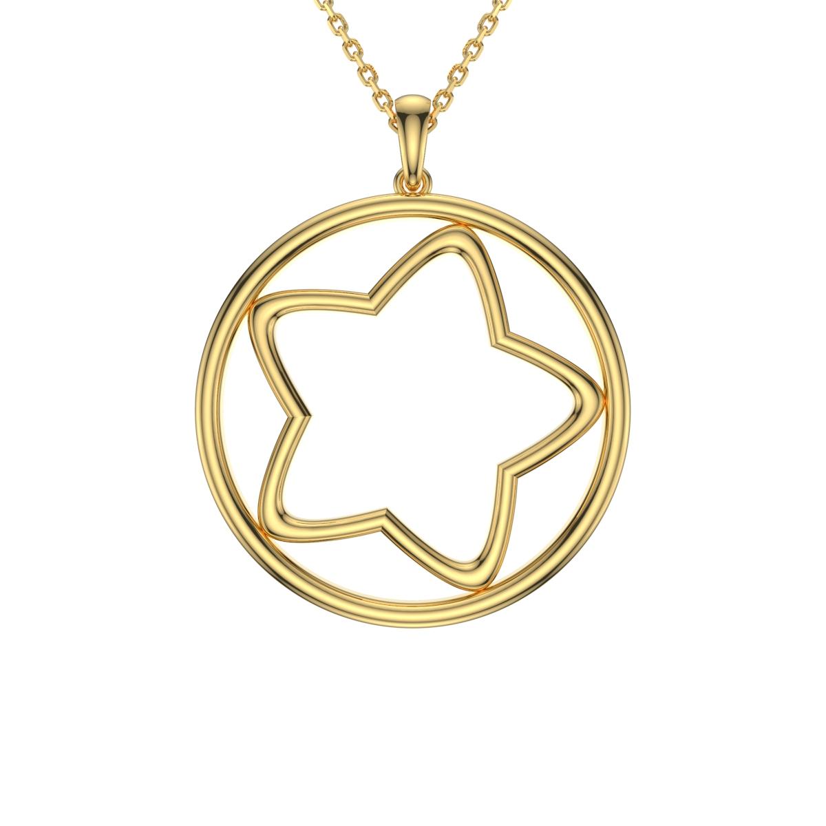 星星圆牌项链