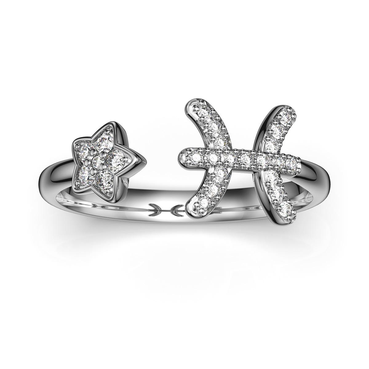 双鱼座戒指
